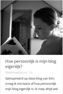 persoonlijkheidblogwatermelilian